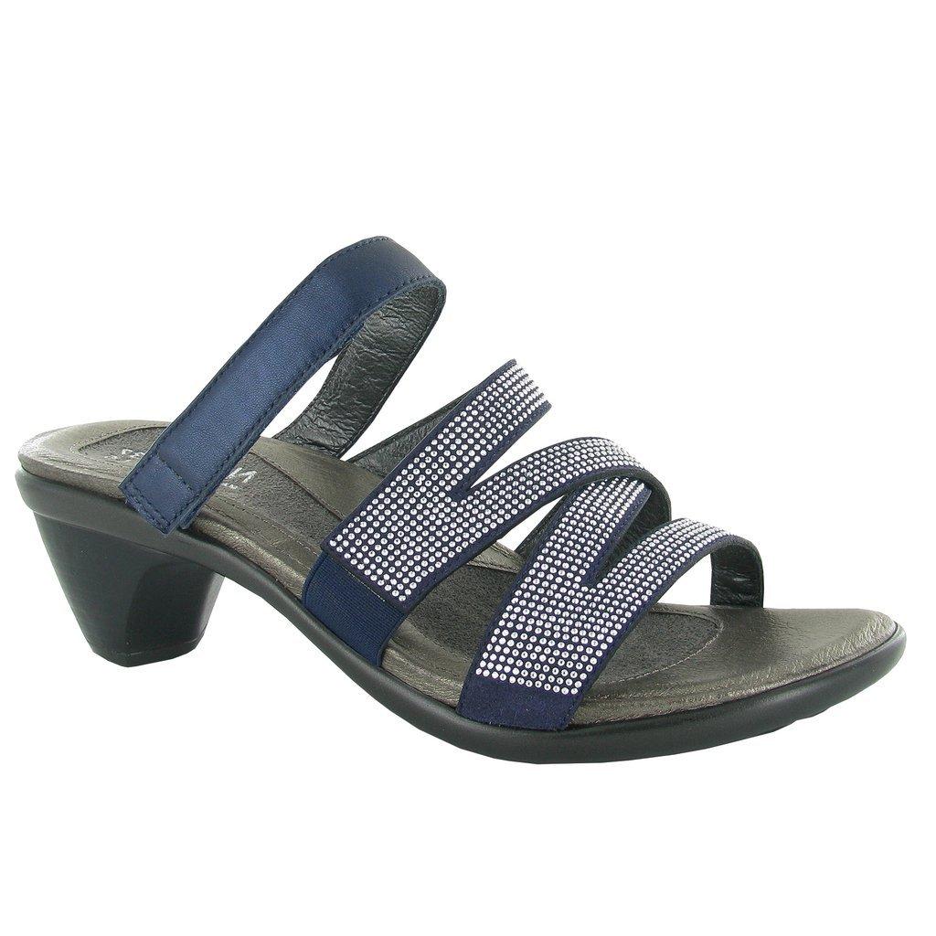 Naot Footwear Women's Formal Polar Sea Leather/Dark Blue/Nickel Rivets 40 M EU by Naot Footwear