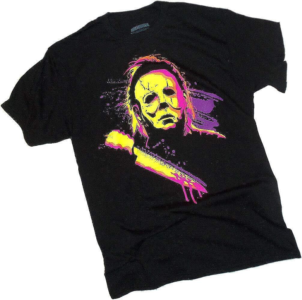 e0a8c867 Amazon.com: Halloween Movie, Neon Michael Myers, Adult T-Shirt: Clothing