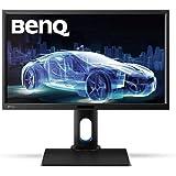 BenQ BL2420PT 60,96 cm (23,8 Zoll) Monitor (VGA, DVI, HDMI, USB, 5 ms Reaktionszeit, Höhenverstellbar, Pivot, Lautsprecher) schwarz