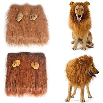 Disfraz de Peluca Melena de león para Perro,Disfraz de Peluca Melena de león para