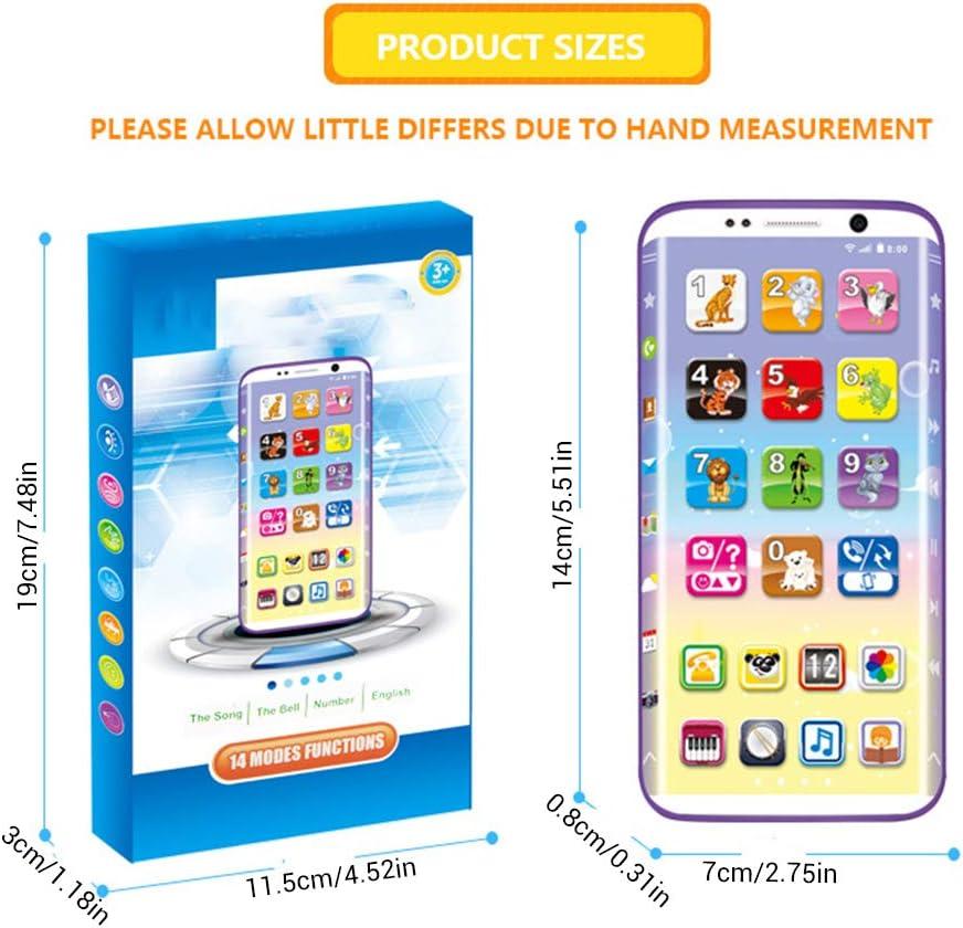 Kinder Smart Phone Handy 8cm Sprache Sound Telefon Spielzeug Rollenspiel Mädchen