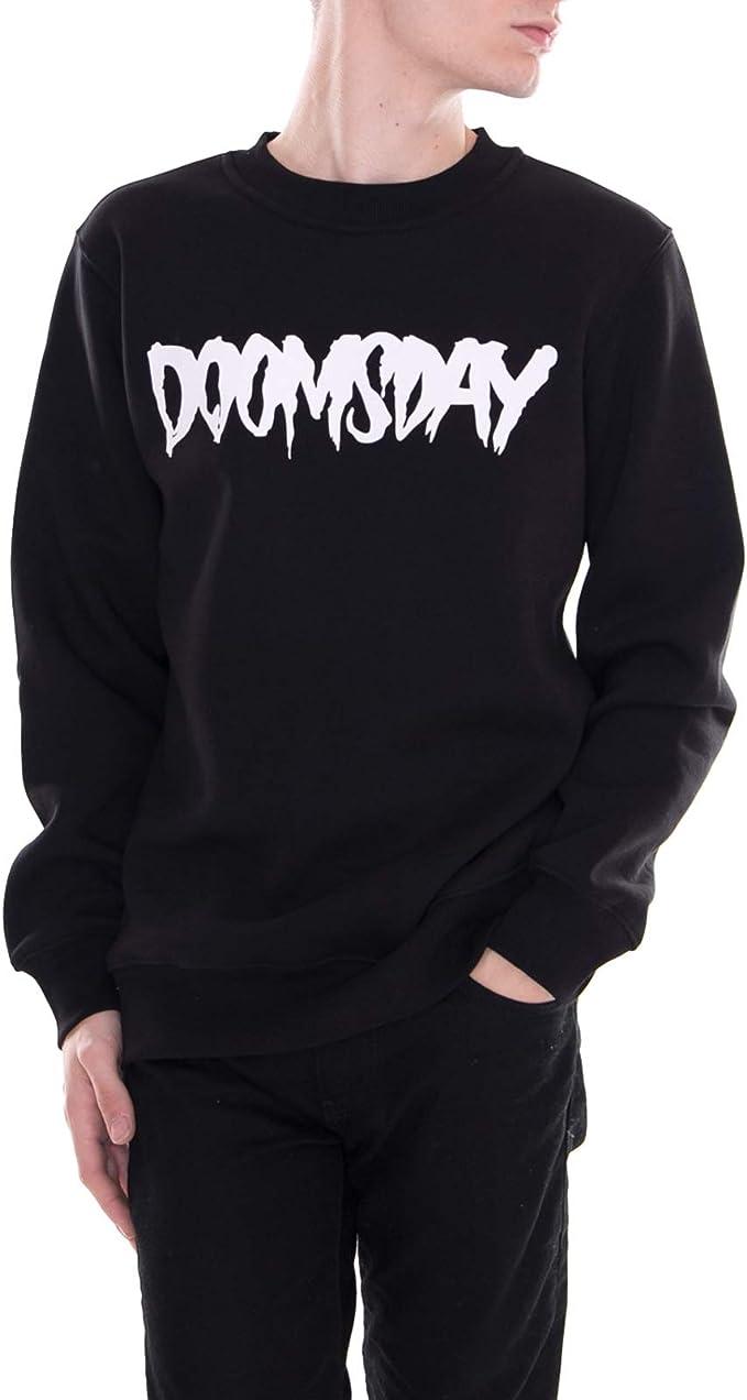 Doomsday - Logo Crewneck Soft Brushed - Sudadera Hombre Negro (S): Amazon.es: Ropa y accesorios