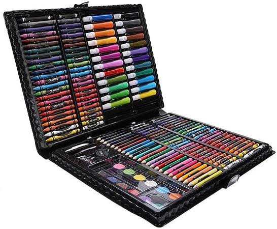 ART JKWL 164 Accesorios de Dibujo, Lápices de Colores, Set Artístico para Dibujar y Bocetar, Juego de Pintura para Niños, Artistas Principiantes, Estuche de Dibujo, Incluye Bloc de Dibujo: Amazon.es: Hogar
