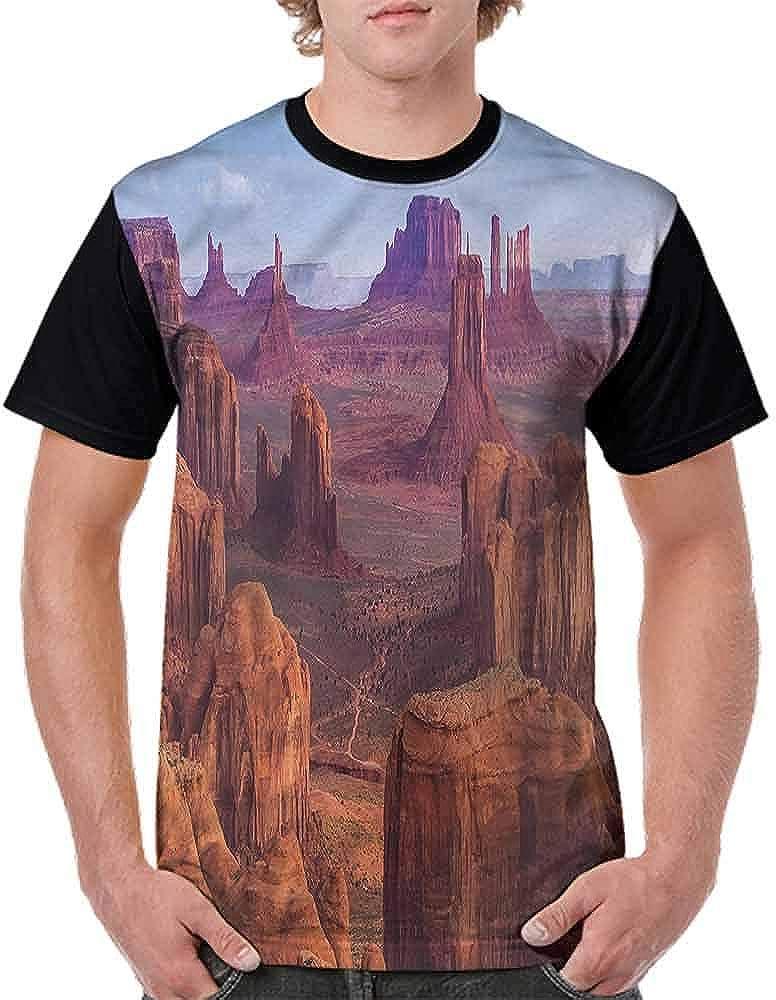 BlountDecor Cotton T-Shirt,South American Scenery Fashion Personality Customization