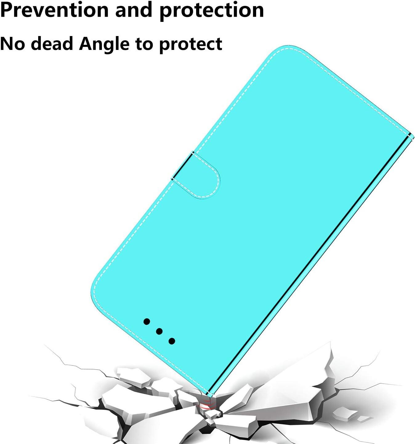 Mi 9T Pro Spiegel H/ülle Blau WIWJ Clear View Standing Cover f/ür Xiaomi Mi 9T 360 Grad Full Schutz Handyh/ülle Ledertasche Wallet Case mit Kartenhalter Tragegurt Sto/ßfest Schutzh/ülle Tasche