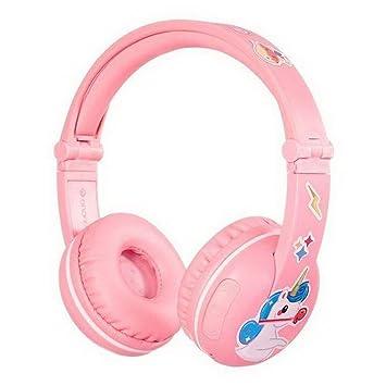 ONANOFF buddyphones Play - Auriculares Bluetooth Inalámbricos para niños, 7 x 16,5 x 19 cm, Color Rosa: Amazon.es: Juguetes y juegos