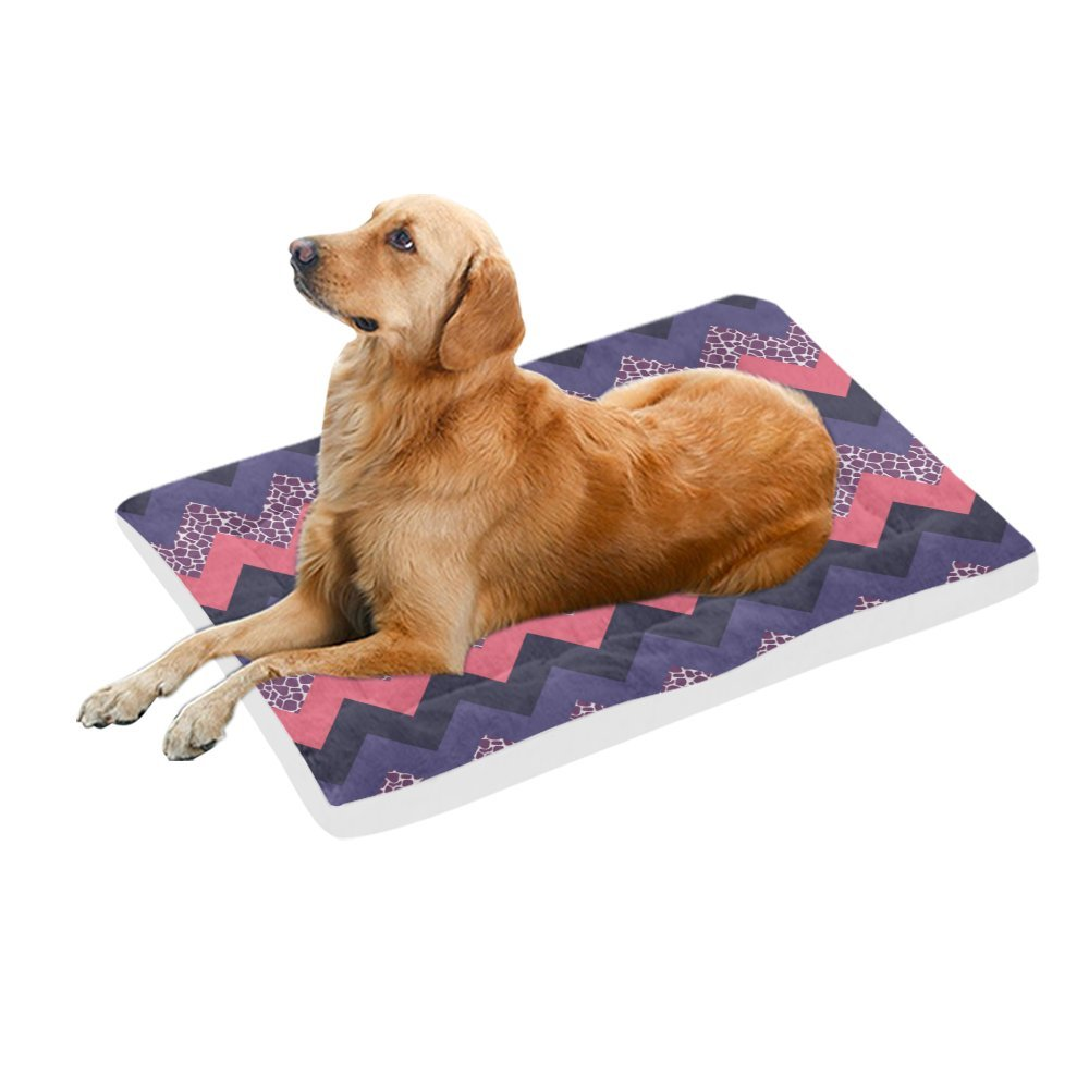 42\ your-fantasia Purple and Pink Chevron Pet Bed Dog Bed Pet Pad 42 x 26 inches