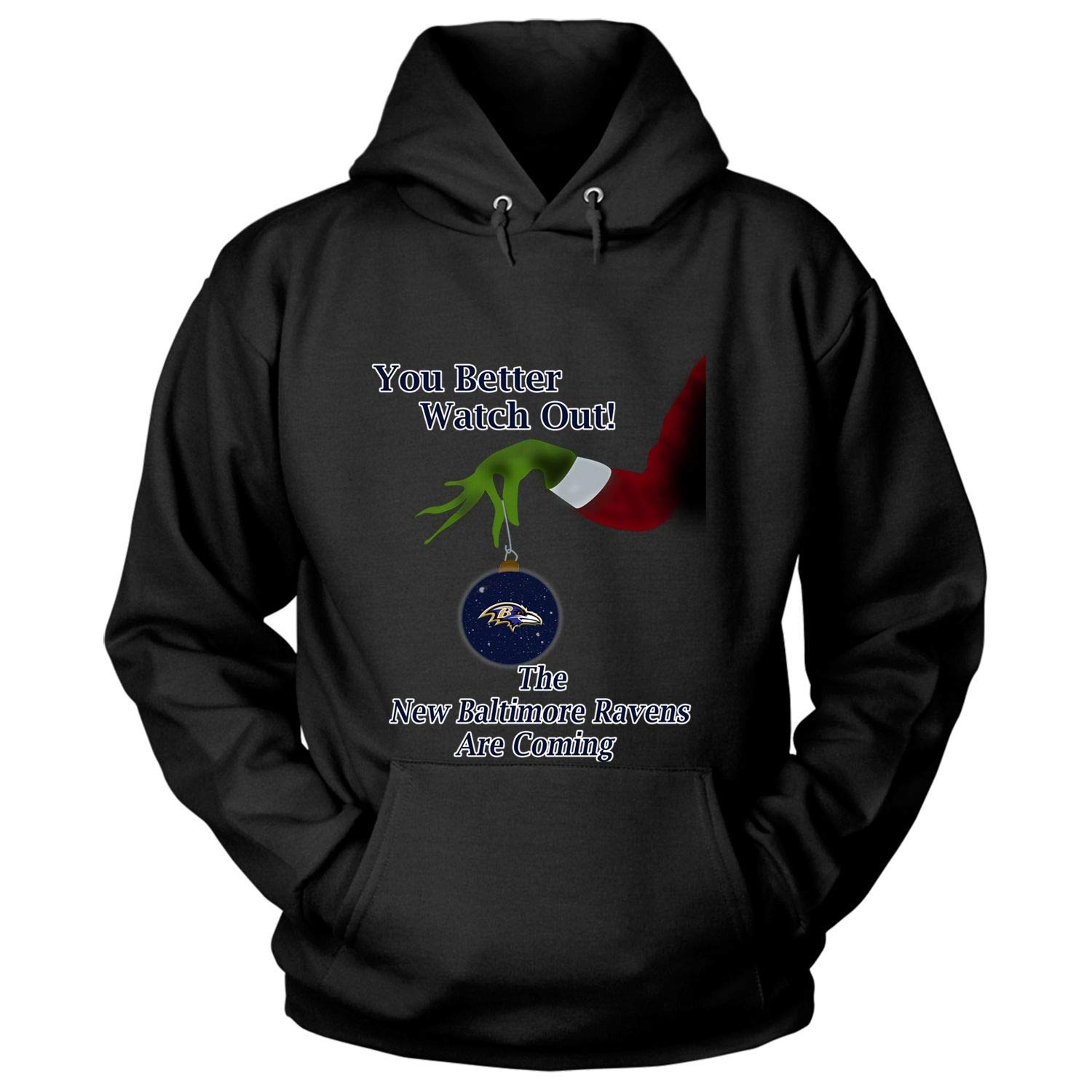 Get Now The Baltimore Ravens are Coming T Shirt Christmas T Shirt – Hoodie