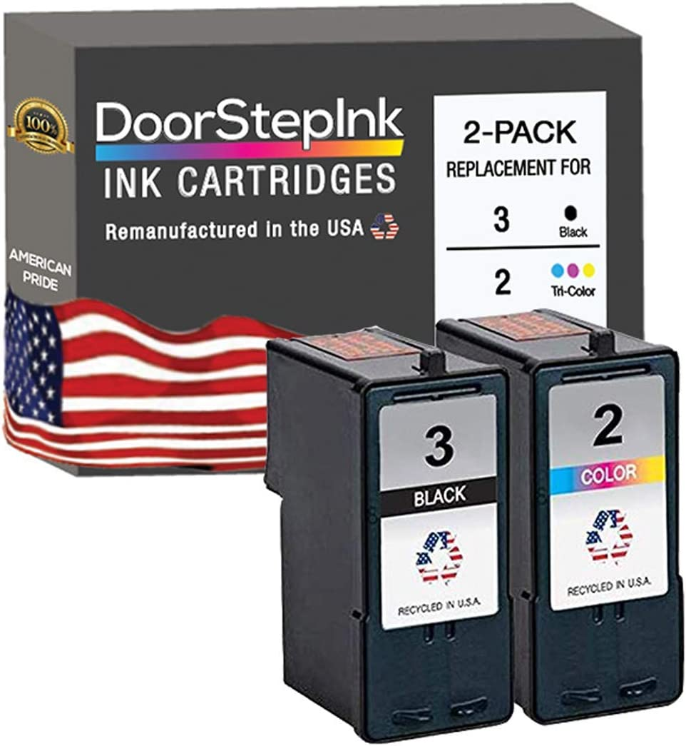 X3480 DoorStepInk Remanufactured in The USA Ink Cartridge Replacements for Lexmark 2//3 18C1530 18C0190 Black Color Combo Pack for X Series X2480 X2580 Z1480 X4580 Z Series Z1380 X3580