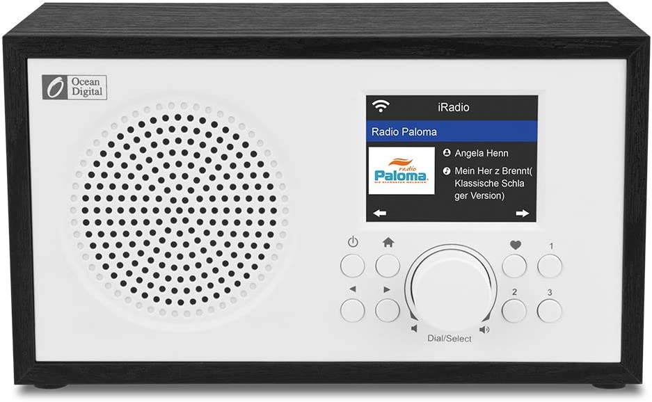 Ocean Digital Wi-Fi Internet radios WR100F FM Digital Radio with Bluetooth Speaker /& Sleep Radio Airmusic Control APP- Black Aux in 26000+ Stations 2.4 Color Display