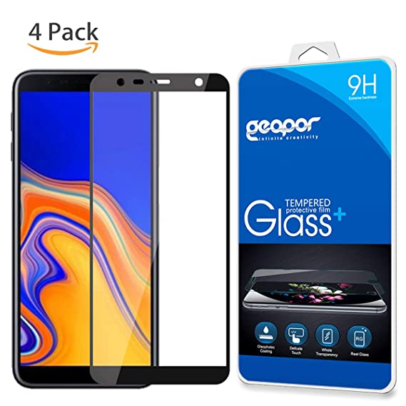 100% authentic 0a3a5 0b69c Amazon.com: for Samsung Galaxy J6 Plus 2018 Screen Protector, 4Pack ...