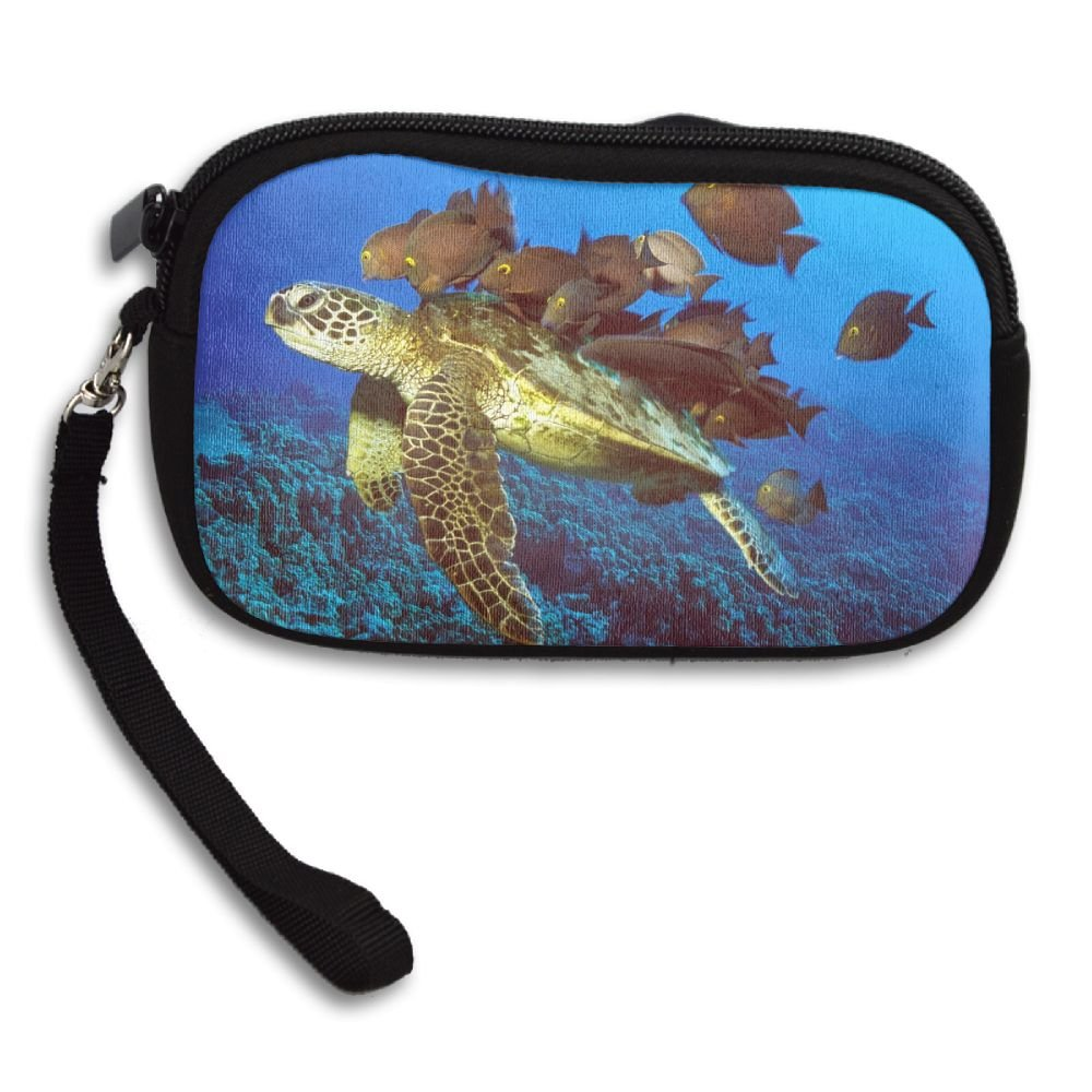 WCVRUT Unisex Clutch Wallet For Woman Ladies -Turtle And Fishes Animal Long Purse Bag Men Gentlemen