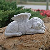 Design Toscano Dog Angel Pet Memorial  Grave Marker Tribute Statue, 10 Inch, Polyresin, Stone Finish Review