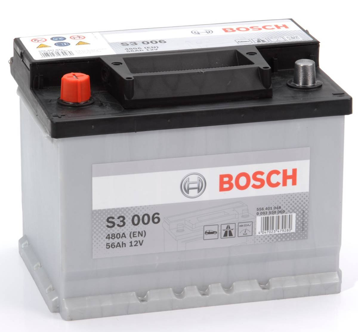 Bosch S3 Car Battery Type 078 With 3 Year Manufacturers Warranty