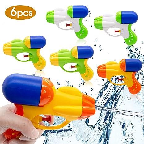 SPECOOL Pistola de Agua 6 Piezas para Pistola de Agua para niños y niñas Fiesta de Verano al Aire Libre Playa de Piscina Recuerdos de Fiesta