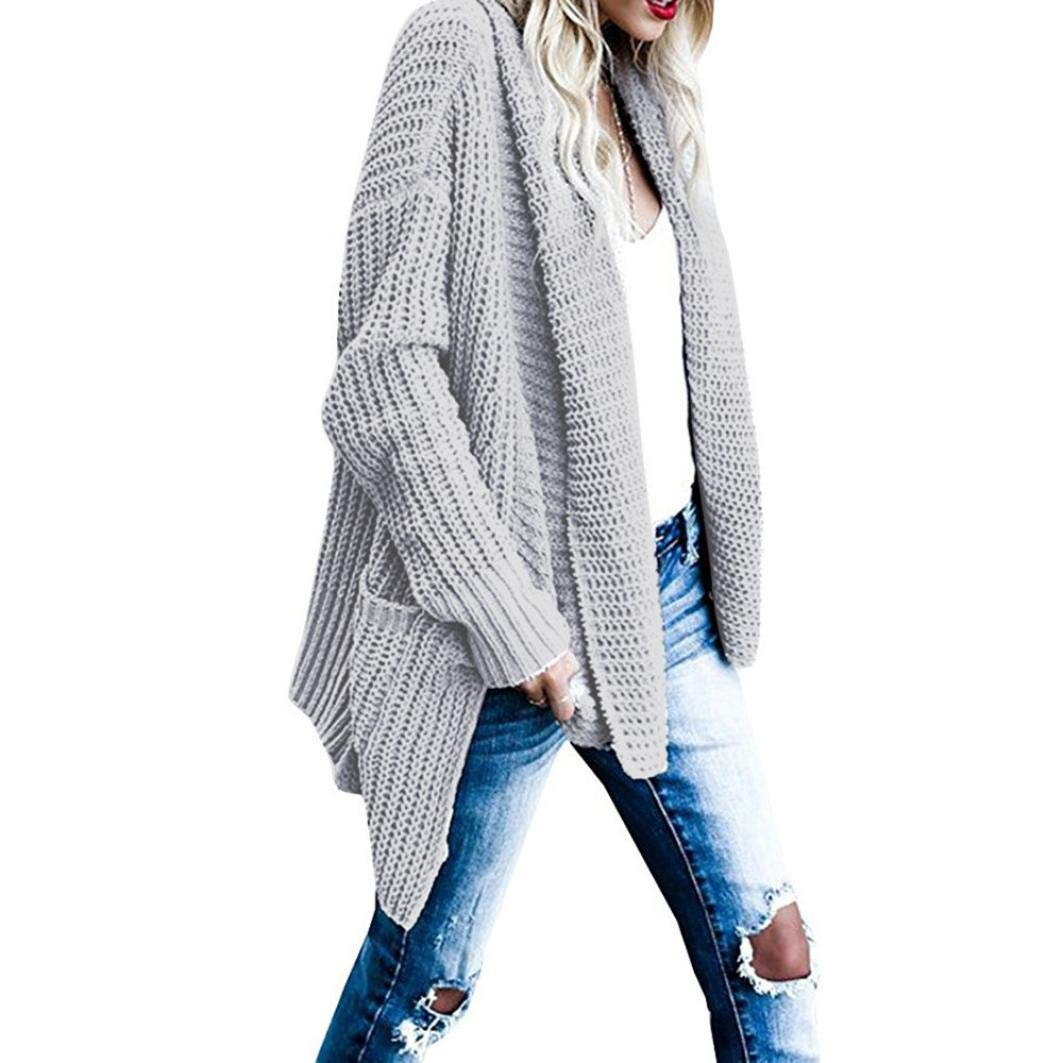 Clearance Gillberry Women's Loose Long Sleeve Knitted Cardigan Sweaters Outerwear With Pocket
