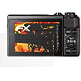 Canon PowerShot G7 X Mark II Displayschutzfolie - 3 x atFoliX FX-Antireflex-HD hochauflösende entspiegelnde Schutzfolie Folie