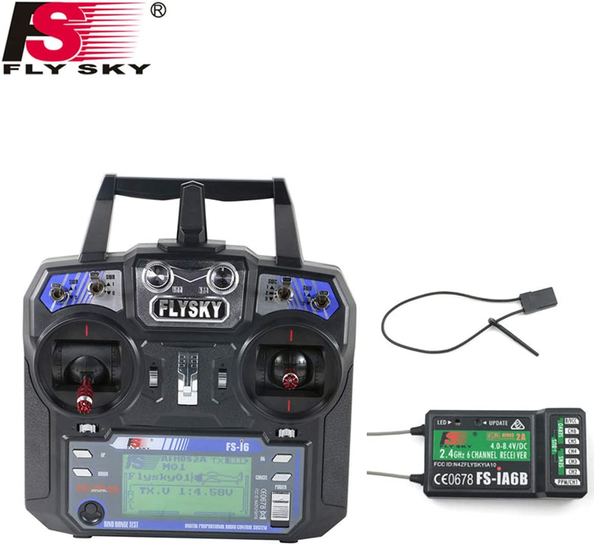 FLYSKY FS-i6X 2.4G 2A 6CH RC Transmitter With FS-iA6B Receiver For RC Quadcopter