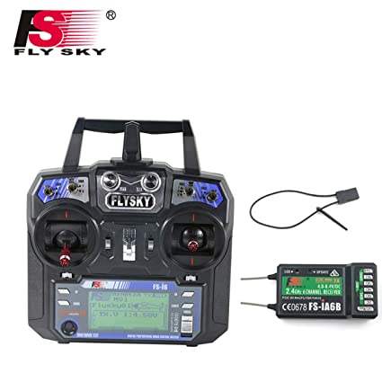 Flysky FS-i6 6CH 2 4GHz AFHDS RC Transmitter w/FS-iA6B Receiver for RC  Multirotor Helicopter Airplane Glider Quadcopter (Model_2)