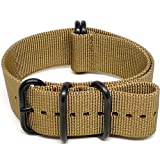 DaLuca Ballistic Nylon NATO Watch Strap – Sand (PVD Buckle) : 22mm, Watch Central