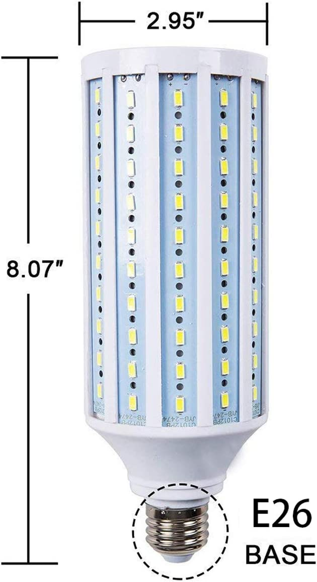 60W LED Light Bulbs Indoor-Daylight 6500K-Flood LED Corn Light Bulbs 500 Watt Equivalent 6000Lm Spiral Light Body with E26 E27General purpose Screw Base 360 /°Wide Angle Beam Lighting Home//Office//Garage//Warehouse Bezyl