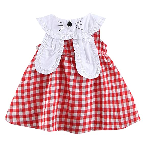 Baiomawzh Vestido de niña Verano Recién Nacido 0 a 24 Meses ...