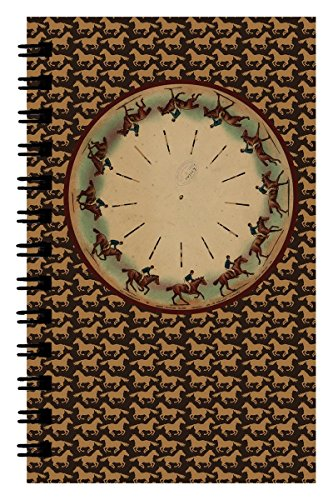 Zoopraxiscope FlipBook MemoBook (4.25 x 7 inches) Side-bound Flip Book Memo Notebook - Galloping Horse and Rider will make you flip through these pages!