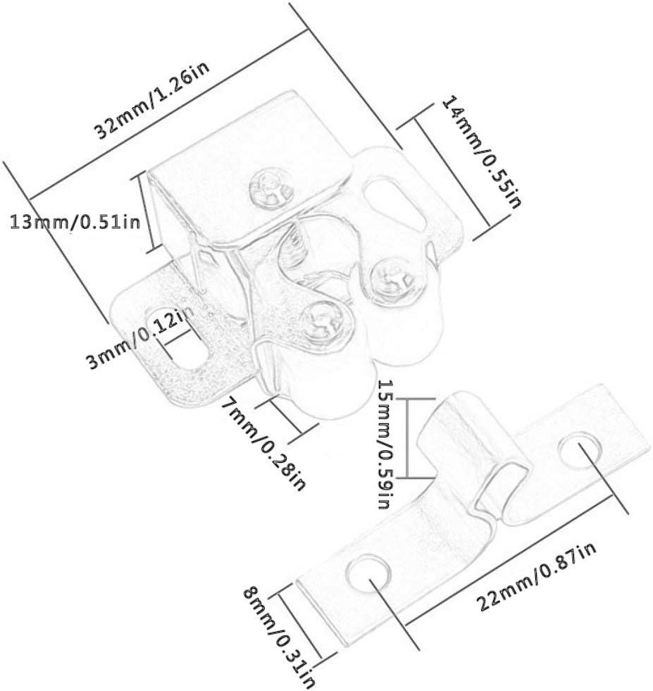 im/án amortiguador cierre de bronce verde cierres de armario tap/ón de puerta Greatangle 2 juegos de herrajes nuevos para muebles amortiguador