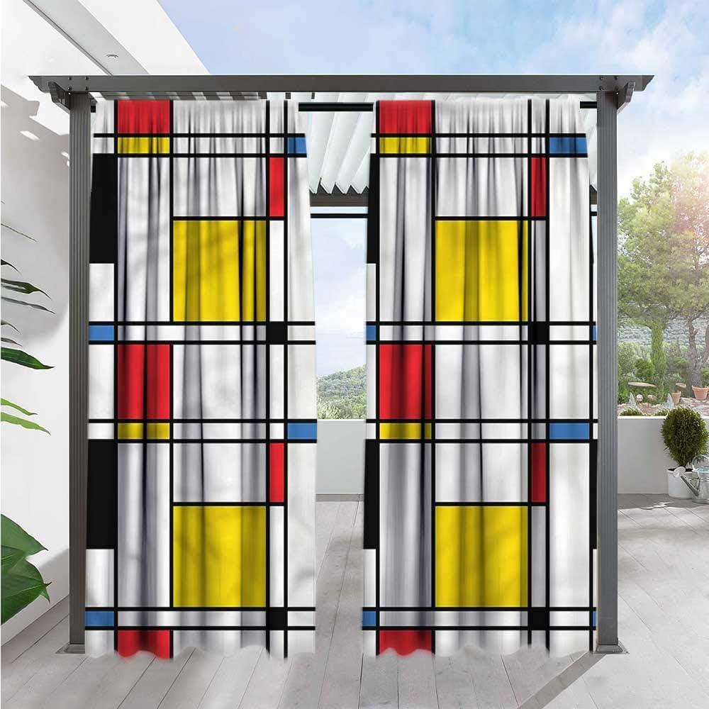 Marilds - Cortina para Puerta corredera Abstracta, geométrica ...