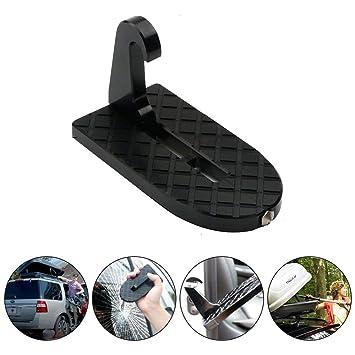 Kobwa - Escalera plegable para puerta de coche con función martillo de seguridad para fácil acceso