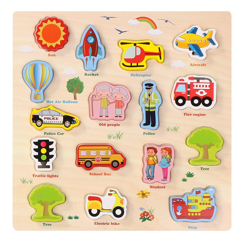 Canyixiu 木製 知育形状 色認識パズル 誕生日プレゼント 3歳 4歳 5歳 子供 赤ちゃん 幼児 男の子 女の子 D canyixiu D  B07H2D2765