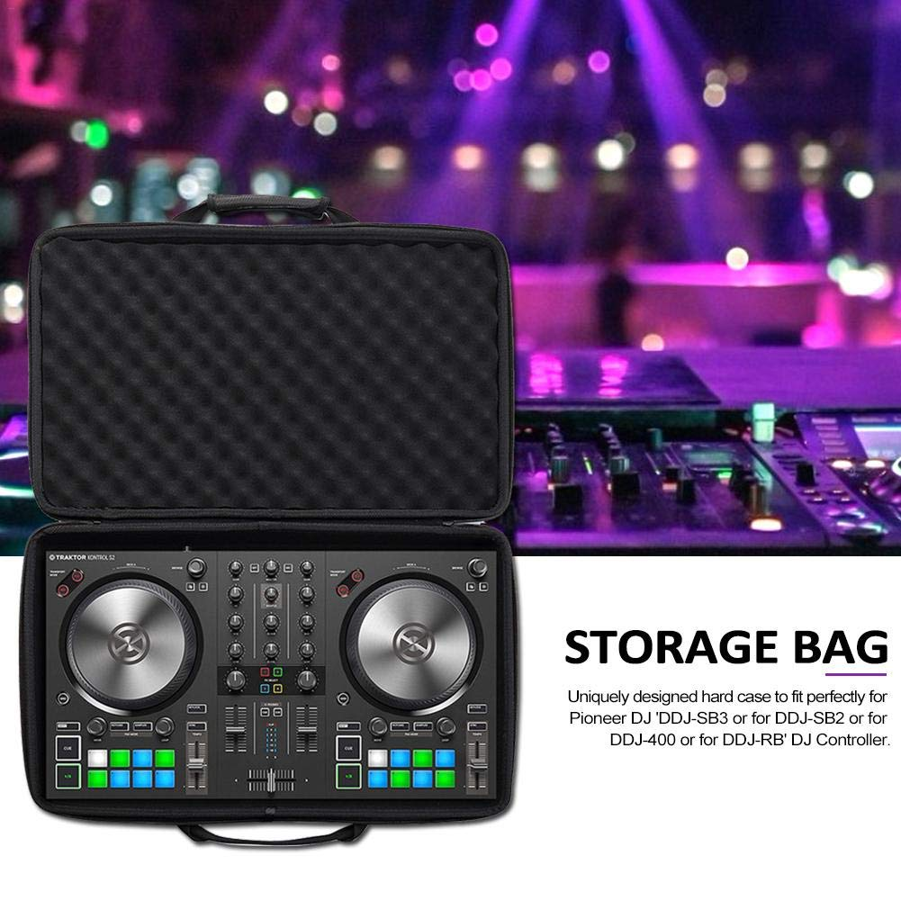 heling896 Paquete Especial De Controlador De Estuche para Bolsa De DJ Estuche R/ígido para Pioneer DJ DDJ-SB3 DDJ-SB2 DJ//DDJ-400 Controlador Port/átil De 2 Canales