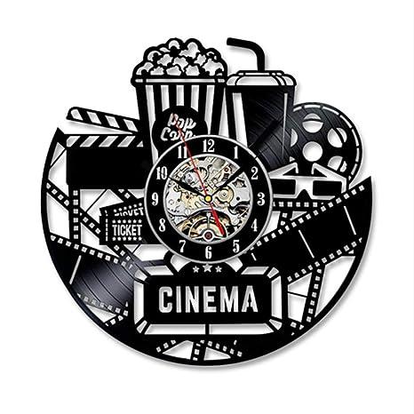 ganjue Tema De Cine Reloj De Pared Diseño Moderno Relojes Decorativos De Sala De Estar Estilo