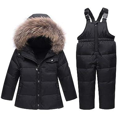 a485577ba Winter Suits for Boys Girls Boys Ski Suit Children Clothing Set Baby Duck Down  Jacket Coat