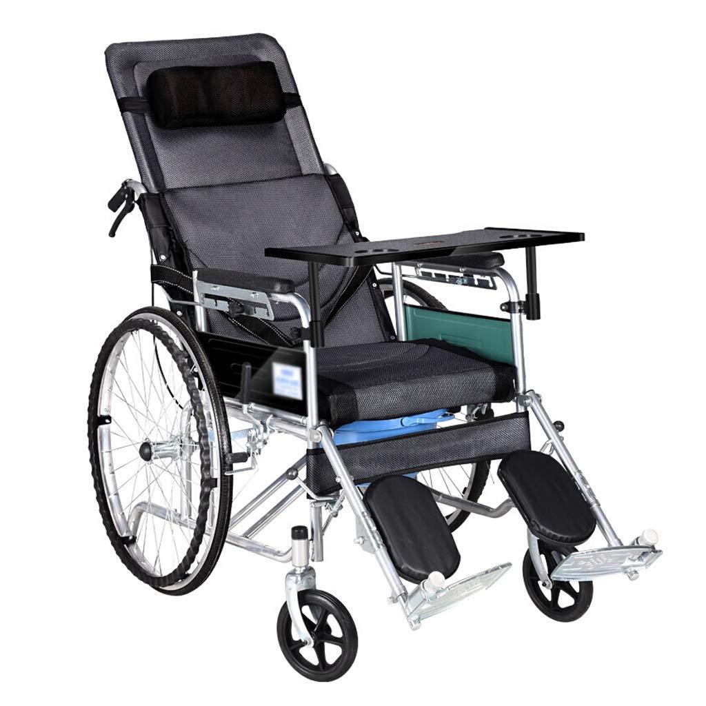 素晴らしい価格 身長調節可能車椅子 - U字型トイレ折りたたみ式高齢者用車椅子180度完全横臥障害者用車椅子 (色 : - ブラック) ブラック ブラック : B07NY63W3D, ライフサポート ハマヤ:fa3790ca --- a0267596.xsph.ru