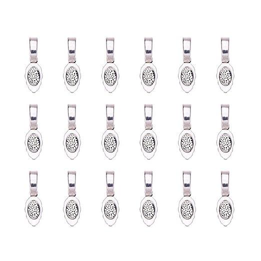 Skyllc/® 10X Base Colgante Redondo ba/ñado de plata Bricolaje DIY Collar 10 mm
