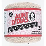 Aunt Lydia'S Fine Crochet Thread, Natural, 400 Yds - 3 Pkgs