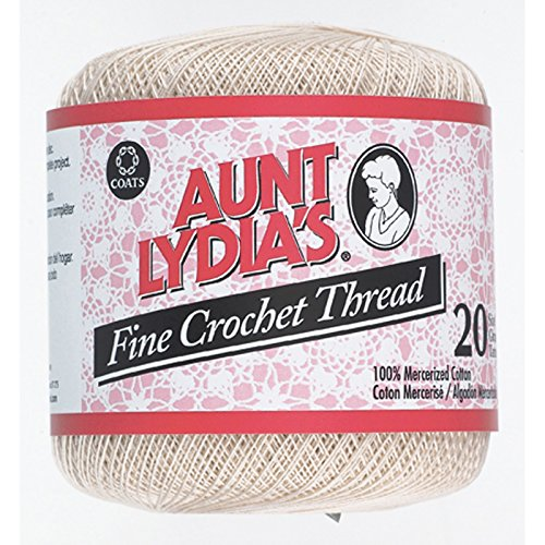Aunt Lydia'S Fine Crochet Thread, Natural, 400 Yds - 3 Pkgs Fine Crochet Thread