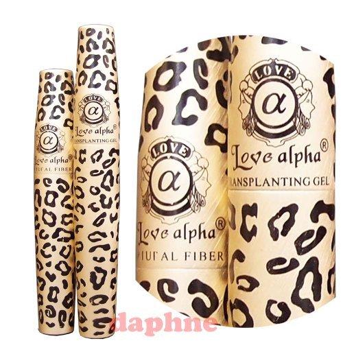 2 jeux (4 tubes) Amour Alpha LA729 English Version (gel et fibre) Mascara - Badigeonner les faux cils