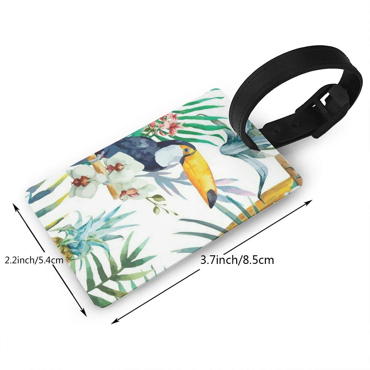2 Pack Luggage Tags Toucans Pattern Handbag Tag For Travel Bag Suitcase Accessories