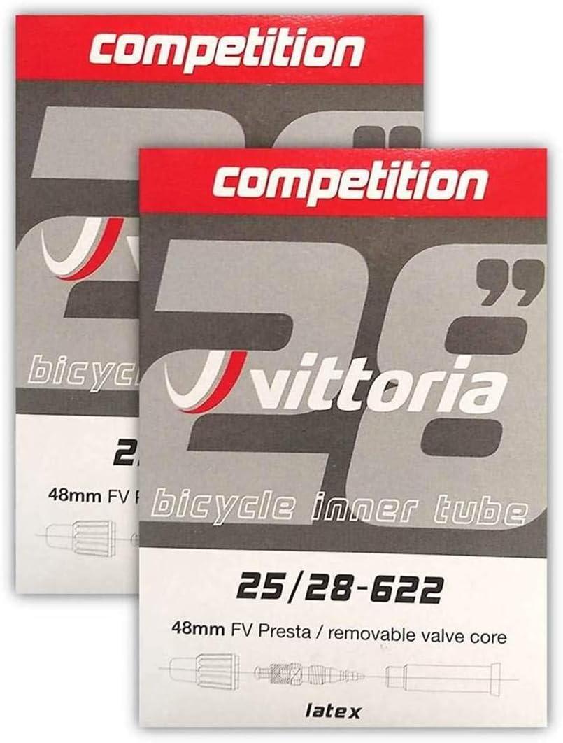 Vittoria Competition Latex Inner Tube 700x25-28C w// 48mm Presta Valve Stem