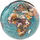 KALIFANO 4'' Gemstone Globe Paperweight with Bahama Blue Opalite Ocean