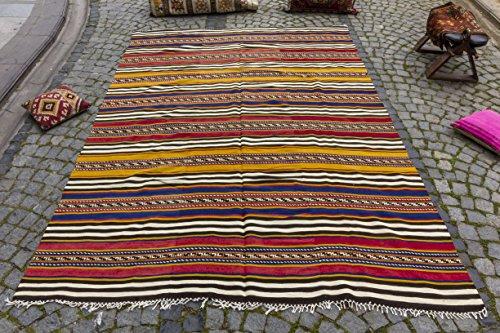 Vintage Kilim Rug 6.99x9.68 ft (213x295 cm)