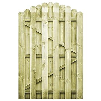 vidaXL Portail de Jardin Bois Pin Imprégné 100x150 cm Arche ...