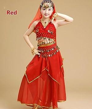 Conjunto de Danza del Vientre Traje de Danza India para ...