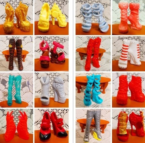 10Pairs Beautiful Shoes For Monster Dolls Fashion High Heels Sandals Boots Mixed-Style Monster Doll Shoes -