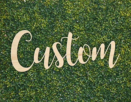 Party Favor Plaque Name (Custom Wood Sign Style Option 6 || personalized name sign backdrop photo booth prop wedding bridal shower)