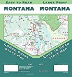 Montana Large Print, Montana State Map
