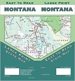 Montana Large Print Montana State Map Gm Johnson 9781770688179
