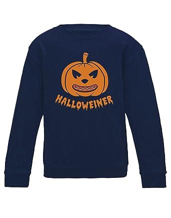 Green Turtle T-Shirts Sudadera para niños - Halloweiner - Divertido Diseño de Calabaza para Halloween: Amazon.es: Ropa y accesorios